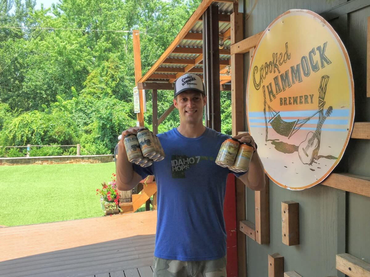 Jon Schorah brewer and brand development manager at Crooked Hammock Brewing