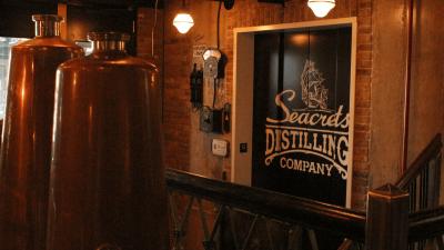Seacrets Distilling elevator